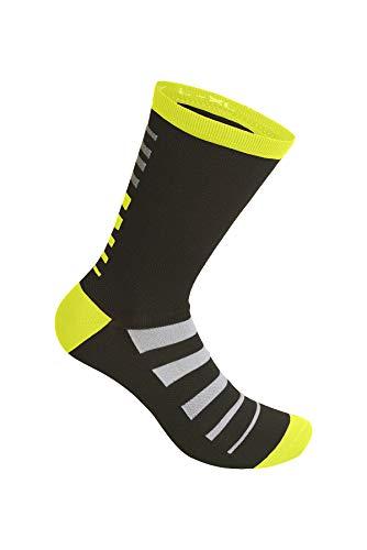 RH+ Zero Merino Sock 20 Zero Merino Sock 20, Unisex – Adulto, black/yellow fluo/white, S/M