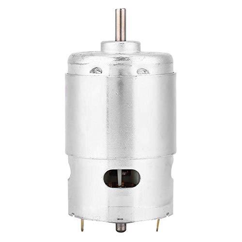 Yongenee Motor caja de engranajes, 12V 6000 RPM alta velocidad de bajo ruido micro máquina de fresado Teniendo Motor doble bola for máquinas, tornos, fresadoras, taladro de banco, etc corte