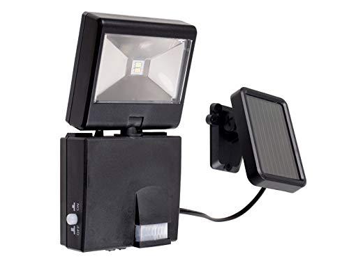 GAO solare LED Faretto con sensore di movimento, Plastica, Nero, 2.5x 11.6x 15.2cm