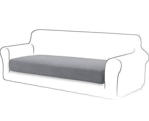 TIANSHU High Stretch Kissenbezug Sofakissen Schonbezug Möbelschutz Sofasitzbezug für Couch 1-teilige Kissenbezüge für 3 Sitzer (3 Sitzer, Hellgrau)