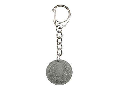 Miniblings 1 Mark DDR Münze Schlüsselanhänger - Handmade Modeschmuck I Anhänger Schlüsselring Schlüsselband Keyring - 1 Mark DDR Münze