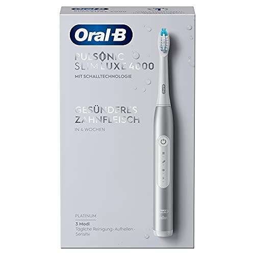 Oral-B Pulsonic Slim Luxe 4000 - Cepillo de dientes eléctrico sónico para encías más saludables...