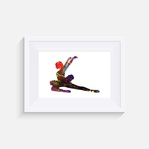 Straße Tänzer Rutschen - inspirierte Aquarell Poster Print - Poster in verschiedenen Größen (Rahmen nicht enthalten)