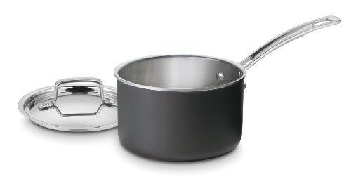 Cuisinart MultiClad Unlimited Dishwasher Safe 2-Quart Saucepan with Cover