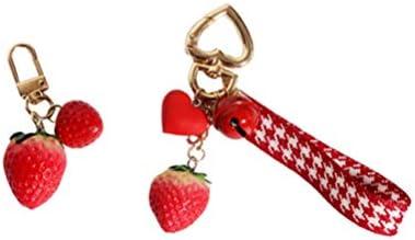 PRETYZOOM Strawberry Design Key Ring Bag Pendant Key Holder Hanging Ornament product image