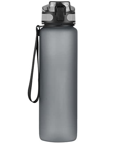 Bottiglia Acqua, 1000ml Bottiglia d'Acqua, Plastica Borracce in Tritan Senza-BPA, con Filtro, Prova di Perdite, per Bici, Scuola, alestraper