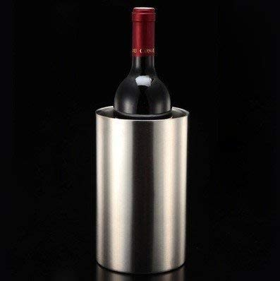 YAeele Cubos de hielo enfriador de bebidas Cubo, los vinos de Champagne cubo de hielo, Ice Cube Cubo, acero inoxidable barra doble, Champagne hielo rojo vino Cubo 2L