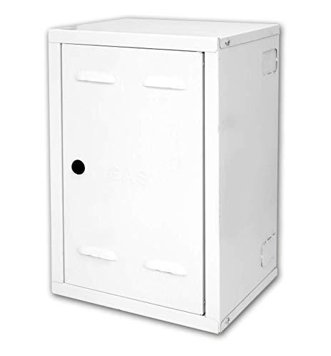 Cassetta contatore gas preverniciato bianco spessore lamiera zincata bianca 6/10 (70 x 40 x 25)