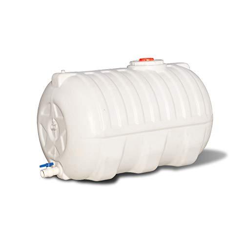 Tanques de agua de plástico para almacenamiento de agua para el hogar, cubos de almacenamiento de agua de plástico al aire libre, tanques de agua plásticos redondos con válvulas Top Tapones,100L