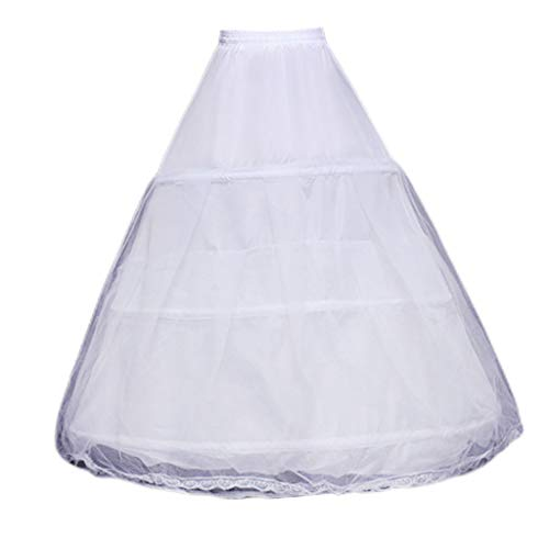 JERKKY dames onderjurk 1 stuk 3 cirkels dubbellaags ondergoed van tule verstelbaar met trekkoord taille bruidsjurk dansjurk petticoat