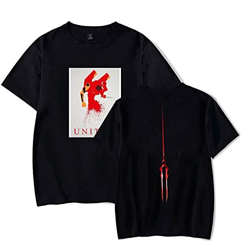 CAFINI Animación Japonesa Neon Genesis Evangelion Eva Camiseta De Dibujos Animados Eva-02 Jersey De Manga Corta Impresa Unisex Streetwear Sudadera De Media Manga(2XS-4XL)