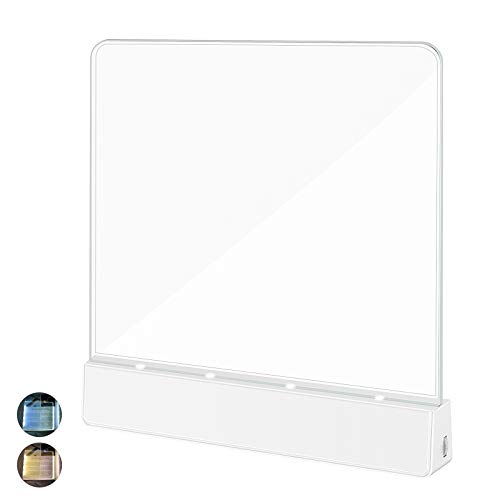 LAILUS Book LightBattery Powered Flat Plate led Book lampBrightness Adjustable2 Color TemperatureKids Book Light for Reading in Bed at Night Clip on Book Lovers Gifts Warm