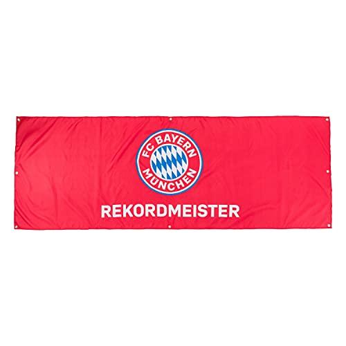 FC Bayern München Balkonfahne - Rekordmeister - 250 x 90 cm Flagge FCB Fahne
