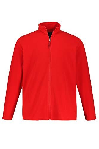 JP 1880 Herren große Größen bis 7 XL, Fleece Jacke, Sweat-Jacke, Stehkragen, Reißverschluss & 2 Taschen, Outdoor Kleidung, Salsa L 705552 64-L