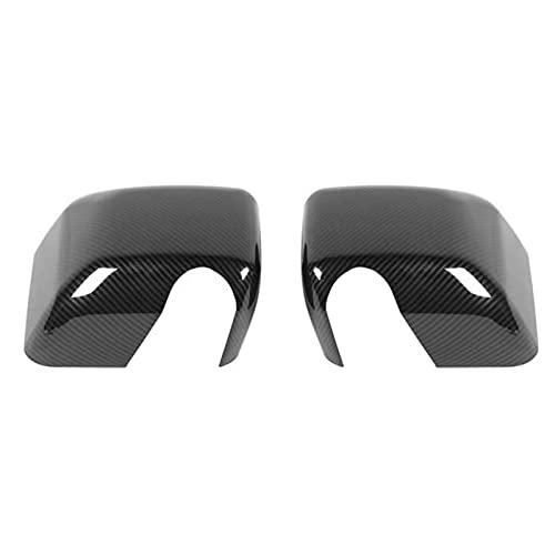 WANGXI Wxi Ajuste de la Cubierta del Espejo de la Vista Trasera del Lado de la Fibra de Carbono, Accesorios de Marco de Espejo retrovisor Ajuste para Jeep Wrangler JK JKU 2007-2017 (Color : Black)