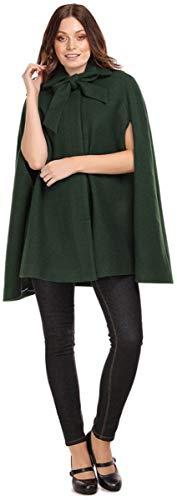 Collectif Damen Mantel Caroline Vintage Peter Pan Cape Coat Grün XS