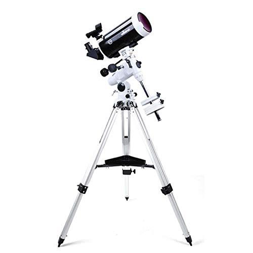 GGPUS Telescopio Refractor de 1500 mm de Longitud Focal con trípode y Visor, telescopio portátil para niños y Principiantes en astronomía, telescopio de Viaje, película Verde Multicapa