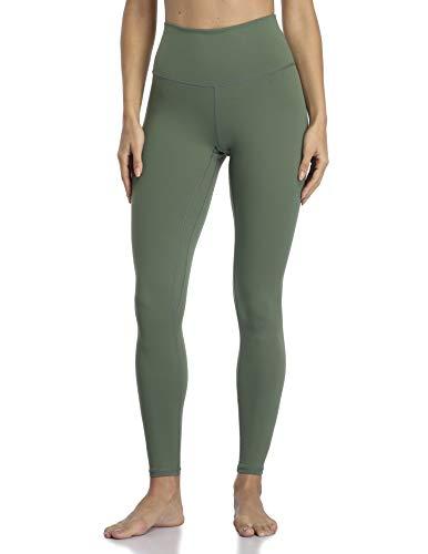 YUNOGA Women's Ultra Soft High Waisted Seamless Leggings Tummy Control Yoga Pants (Army Green, Medium)