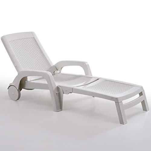BICA 178 Miami Sedie, Bianco, 91.5x74x180 cm, 190x70x46 cm