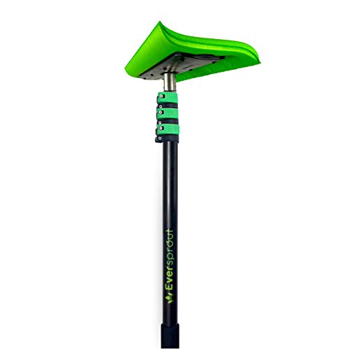 EVERSPROUT Never-Scratch SnowBuster 7-to-24 Foot (Up to 30 Ft Standing Reach) | Pre-Assembled Extendable Roof Rake for Snow Removal | Heavy-Duty Aluminum, Soft Foam Pad | Exclusive Push/Pull Design