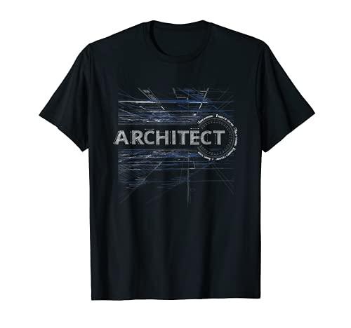 Funny Architect Blueprint Protractor Cool Architecture Men T-Shirt