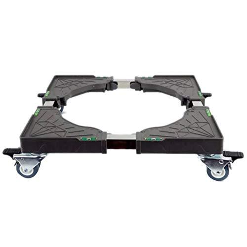 SHYPT Soporte de rueda universal extraíble para frigorífico, lavadora, base ajustable, soporte de movimiento retráctil, carro de aire acondicionado
