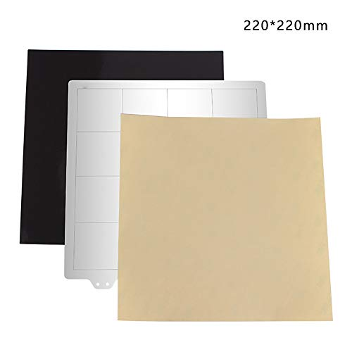 MCLseller 3D-Drucker Federstahl Flexible Platte/Magnetaufkleber/PEI-Flexbett, 220x220mm, 235x235mm, 300x300mm