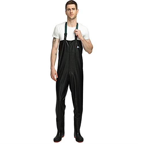ENJOHOS Chest Waders PVC 100% Waterproof Fly Fishing Waders with Boots Size...