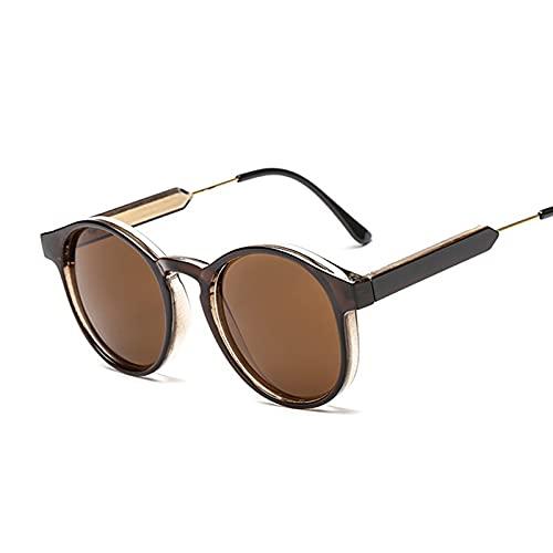 Hanpiyignstyj Gafas De Sol, Gafas de Sol de Ojo de Gato Retro Damas Negras Retro Damas Gafas de Sol Leopardo Espejo Mujeres (Lenses Color : Brown)