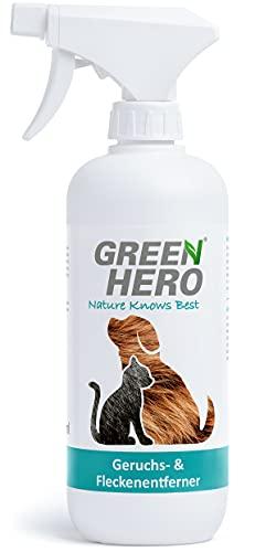 Green Hero Neutralizador de Olores y Quitamanchas Mascotas 500ml – Eliminador de Olores Mascotas – Solución de Enzimas Biológicas contra el Olor de Orina de las Mascotas