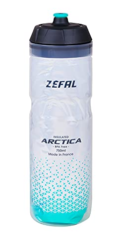 ZÉFAL Bidón Isothermo Arctica 75, 750ml, Unisex Adulto, Plateado/Verde caraibeano, 750 ml