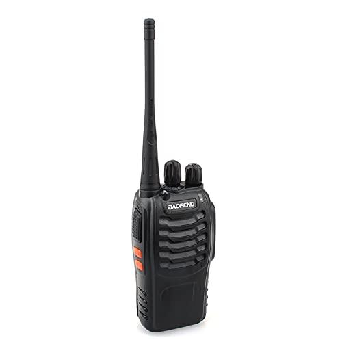 Bosrish Walkie Talkie/Interphone para adultos Campo Supervivencia Camping Senderismo Comunicación (negro)