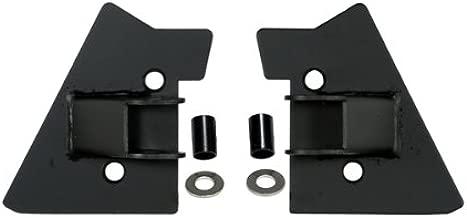 MIRROR RELOCATION BRACKET PAIR, BLACK, 97-02 WRANGLER WITH HALF OR FULL DOORS