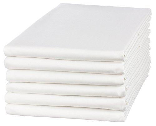 Moon 5er Pack Angebot!! Haustuch/Betttuch/Bettlaken 150x250cm weiß ohne Gummizug 95° waschbar