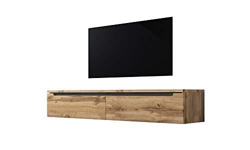 Swift – Fernsehschrank/Tv-Lowboard In Holzoptik Wotan Eiche Matt Hängend Oder Stehend 140 Cm