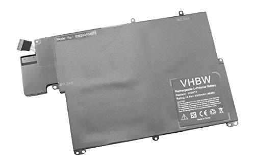 vhbw Akku passend für Dell Inspiron 5323, 13z-5323 Notebook (3300mAh, 14.8V, Li-Polymer, schwarz)