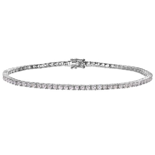Naava Damen-Tennis Armband 18 K 585 Weißgold Diamanten 2 ct PBC01875W
