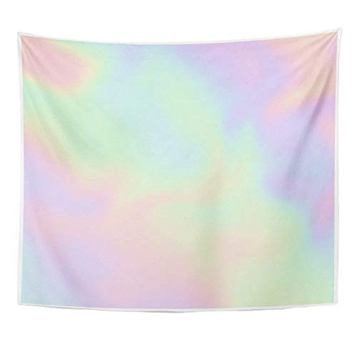 N/A Tapestry Tapestry Colorful Iridescent Holographic Pearlescent Design in Pastel Hues Pearl Gradient Home Decor Wall Hangingbohemian Hippie Mandala Picnic Tablecloth Gift 52X60 Inches