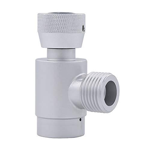 NICREW Silber Soda Stream Adapter, Aluminium TR21-4 auf W21.8 Gas CO2 Nachfüll Soda Stream Konverter für Aquarium Zylinder
