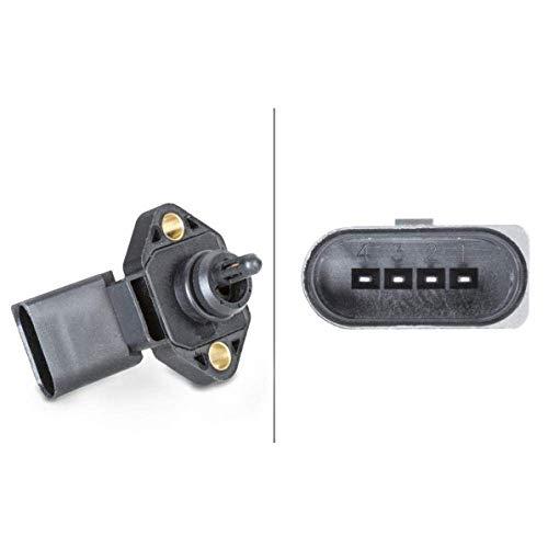 HELLA 6PP 009 400-481 Capteur, pression de suralimentation - 4pôle