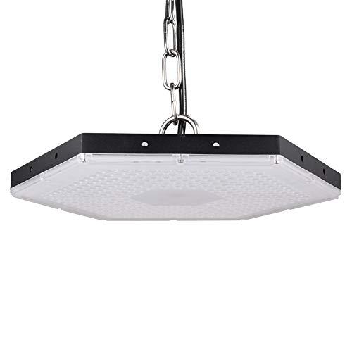 Viugreum LED UFO Lampada Industriale 300W, Illuminazione Bianco Freddeo Impermeabile IP65,27000LM per interni/esterni Proiettori a sospensione commerciale, 6500K Luci bianche per garage