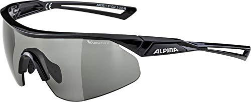 ALPINA NYLOS SHIELD VL Sportbrille, Unisex– Erwachsene, black, one size