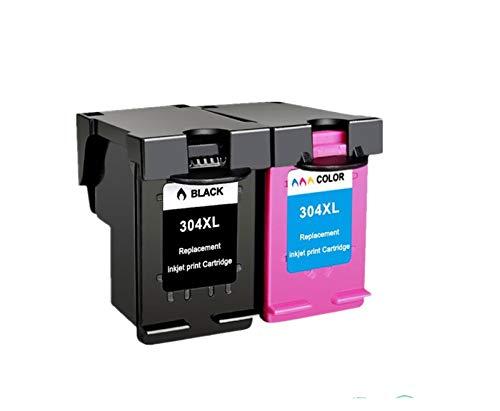 Liupin Store Cartucho de tinta negra 304xl Nueva versión Ajuste para HP304 Fit para HP 304 XL Deskjet Envy 2620 2630 2632 5030 5020 5032 3720 3730 5010 impresora Fácil de instalar y conveniente.
