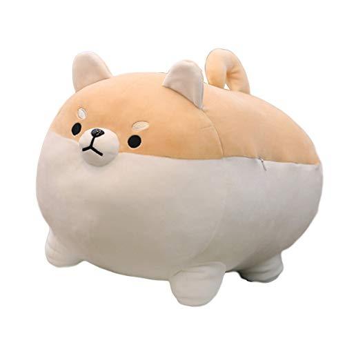 Algodón Suave Perrito de Peluche de Juguete muñeca de algodón Grande y Gordo Shiba Inu Corgi Almohada Cachorro Perro Siesta Almohada Larga (40 cm)