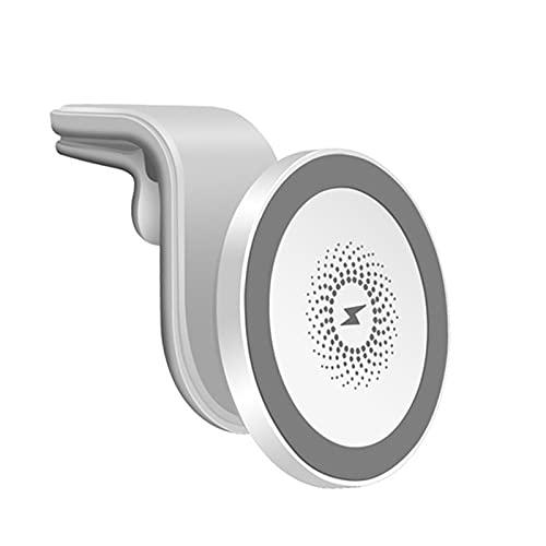TISHITA Cargador de Coche inalámbrico magnético 15W 10W / 7.5W / 5W Soporte para teléfono con Montaje de ventilación de Aire para para 12/12 - Blanco