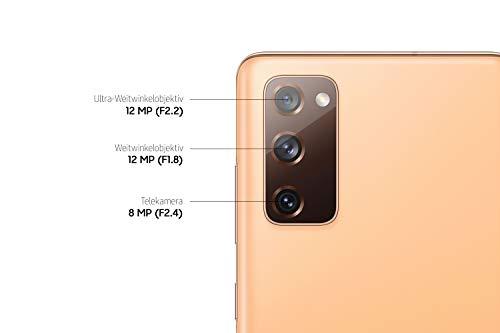 Samsung Galaxy S20 FE 5G, Android Smartphone ohne Vertrag, 6,5 Zoll Super AMOLED Display, 4.500 mAh Akku, 128 GB/ 6 GB RAM, Handy in Orange inkl. 36 Monate Herstellergarantie [Exklusiv bei Amazon]