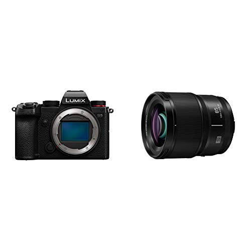 Panasonic LUMIX S5 Full Frame Mirrorless Camera (DC-S5BODY) and LUMIX S Series 85mm F1.8 L Mount Interchangeable Lens (S-S85)