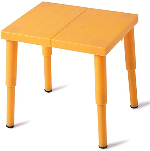 ZYLBDNB Plastikfaltschemel, tragbarer Sitzbank-Kleiner Stuhl im Freien/Kindererwachsener Haushaltstaschenschemel,Orange,22 * 22cm