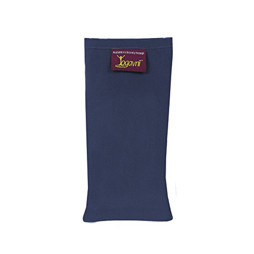 Yogavni(TM) デラックススパ 心休まるシルク ヨガアイピロー ラベンダーの香り ブルー