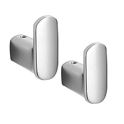 Amazon - Save 50%: PTINBG Silver Towel Robe Hooks, Solid Brass Wall Hooks Bathroom Hardwar…